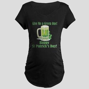 GreenBeer001 Maternity Dark T-Shirt