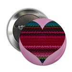 Electric Heart Button / Pin / Brooch