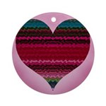 Electric Heart Round Keepsake Ornament