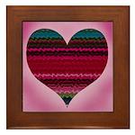 'Electric Heart' Framed Tile