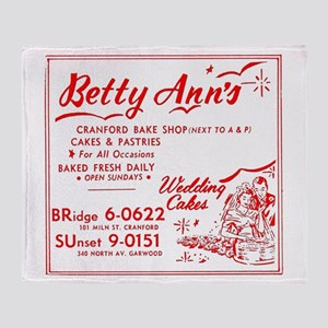 Betty Anns Bakery_Cafe - No Backgrou Throw Blanket