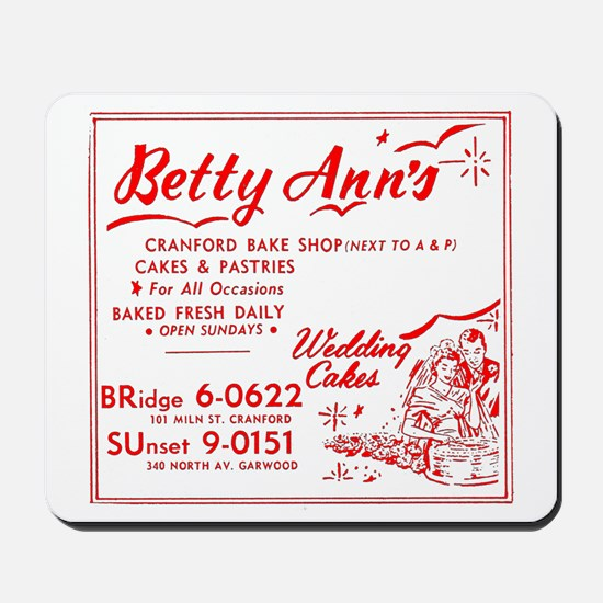 Betty Anns Bakery_Cafe - No Background c Mousepad
