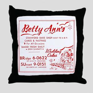 Betty Anns Bakery_Cafe - No Backgroun Throw Pillow