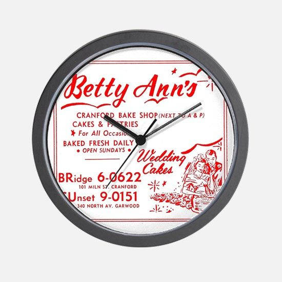 Betty Anns Bakery_Cafe - No Background  Wall Clock