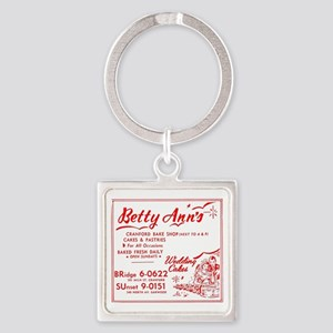 Betty Anns Bakery_Cafe - No Backgr Square Keychain