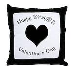 'Cursing Black Heart' Throw Pillow