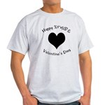 'Cursing Black Heart' Ash Grey T-Shirt