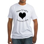 'Cursing Black Heart' Fitted T-Shirt