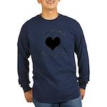 'Cursing Black Heart' Long Sleeve Dark T-Shirt