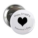 'Cursing Black Heart' Button/Pin/Badge (100 pack)