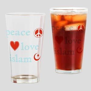 PeaceLoveIslam Drinking Glass
