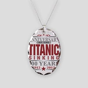 Titanic 100 Yr 2 Necklace Oval Charm