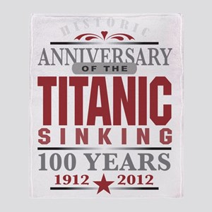 Titanic 100 Yr 2 Throw Blanket