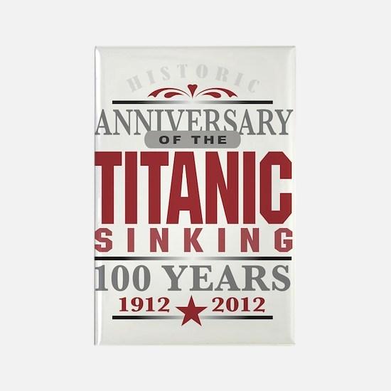Titanic 100 Yr 2 Rectangle Magnet