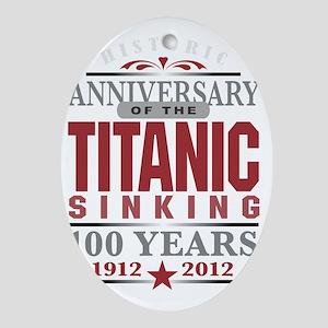 Titanic 100 Yr 2 Oval Ornament