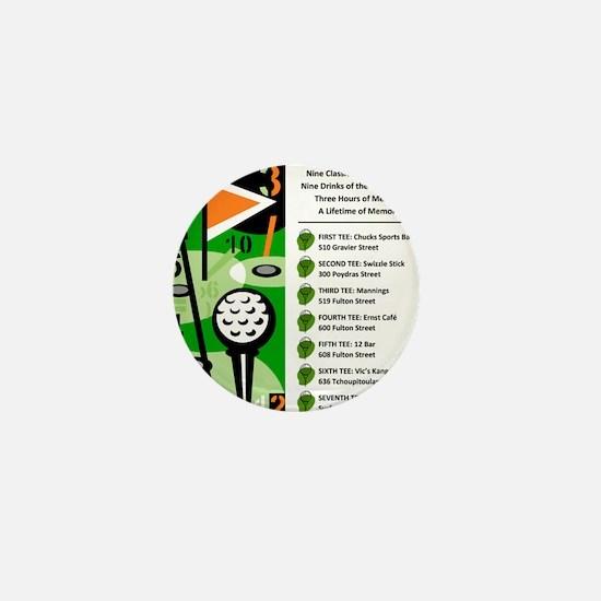 Bar Golf Shirt Logo Mini Button