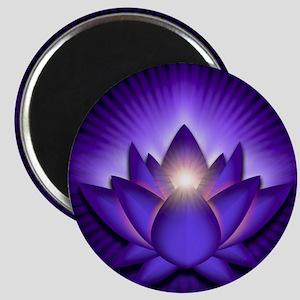 Chakra Lotus - Third Eye Purple - banner Magnet