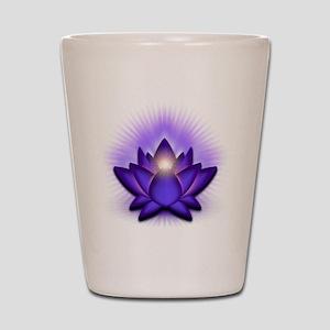Chakra Lotus - Third Eye Purple Shot Glass