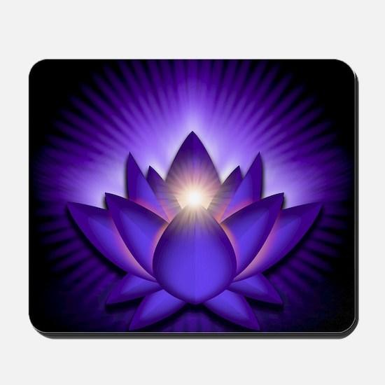 Chakra Lotus - Third Eye Purple - greeti Mousepad
