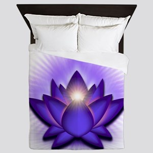 Chakra Lotus - Third Eye Purple Queen Duvet