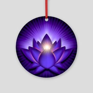 Chakra Lotus - Third Eye Purple - g Round Ornament