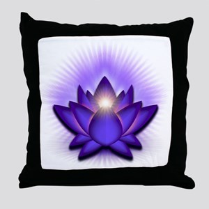 Chakra Lotus - Third Eye Purple Throw Pillow