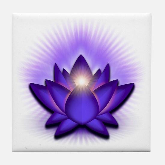 Chakra Lotus - Third Eye Purple Tile Coaster