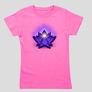 Chakra Lotus - Third Eye Purple Girl's Tee