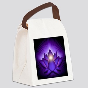 Chakra Lotus - Third Eye Purple - Canvas Lunch Bag