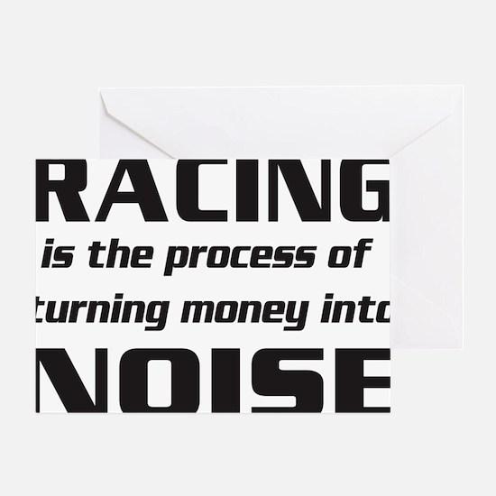 racingnoise-blk Greeting Card