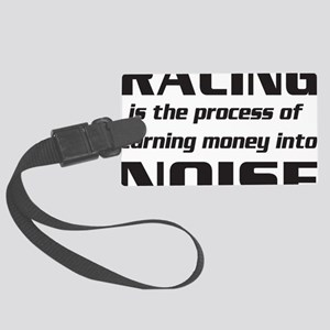 racingnoise-blk Large Luggage Tag