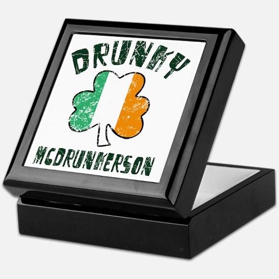 Irish Drunky Keepsake Box