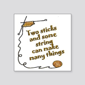 "Two sticks SYE Square Sticker 3"" x 3"""