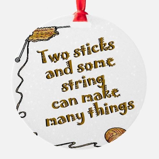 Two sticks SYE Ornament