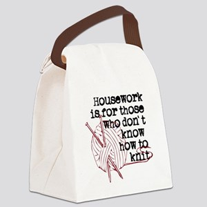 Housework for those.knit Canvas Lunch Bag