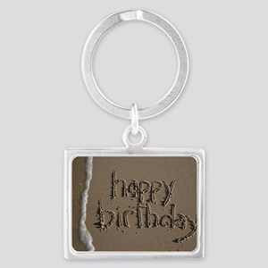 happy birthday Landscape Keychain