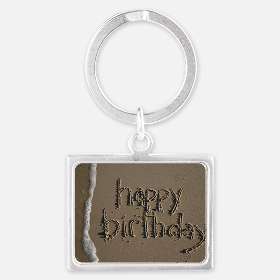 happy birthday Landscape Keychain