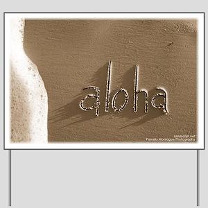 aloha Yard Sign