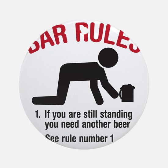 barrules copy Round Ornament