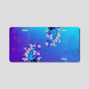 Yard Sign  Two Blue Koi Aluminum License Plate