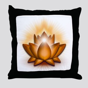 Chakra Lotus - Sacral Orange Throw Pillow