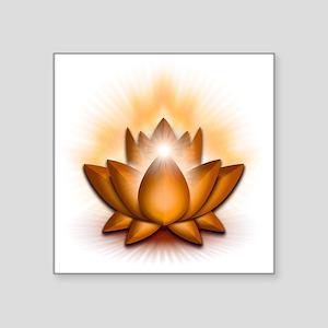 "Chakra Lotus - Sacral Orang Square Sticker 3"" x 3"""