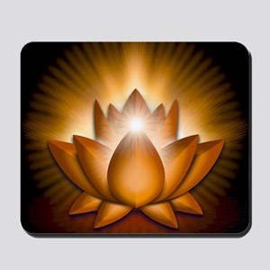 Chakra Lotus - Sacral Orange - square Mousepad