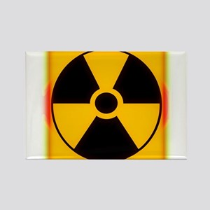 Nuclear Meltdown Warning Rectangle Magnet