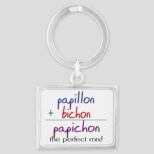 papichon Landscape Keychain