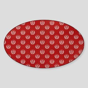 ShoulderBagAfghan1 Sticker (Oval)