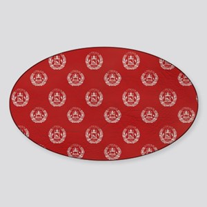 ToiletryBagAfghan1 Sticker (Oval)