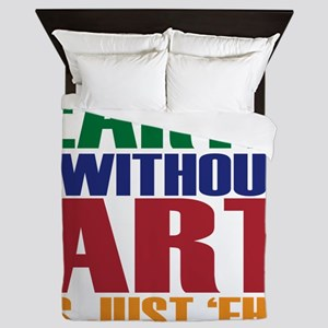 earth without art Queen Duvet