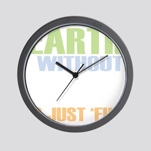 earth without art_dark Wall Clock