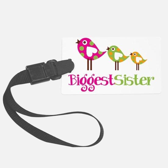 PolkaDotBirds3BiggestSister Luggage Tag